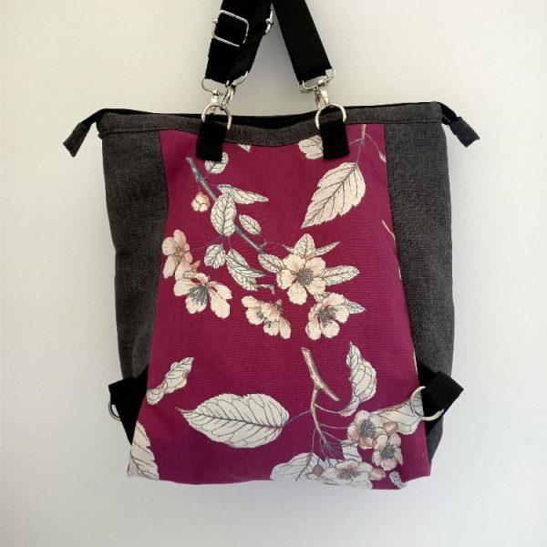 borsa zaino fiori di ciliegio